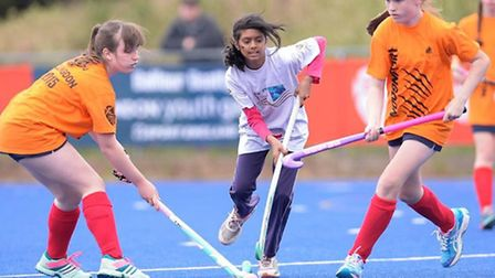 A Tower Hamlets youngster in action at the London Youth Games hockey competition (pic: Ying Pan Wu/L