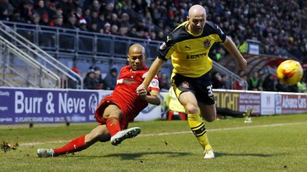 Elliot Omozusi in action during the 2014/15 campaign for Leyton Orient (pic: Simon O'Connor).