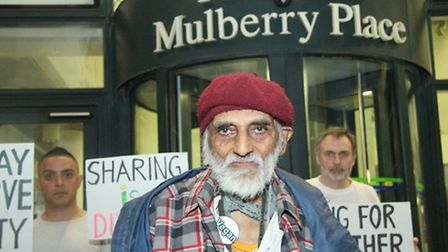 pensioner Angelus Sumesar-Rai who Tower Hamlets Council plans to evict