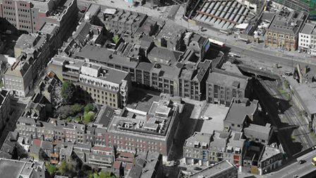 Now you see it... Aerial view of Norton Folgate