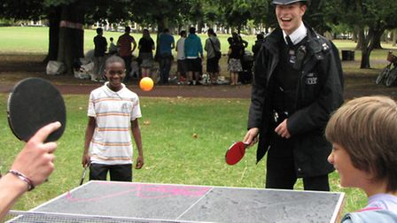 Even cops take time off for Ping Pong in Vicky Park