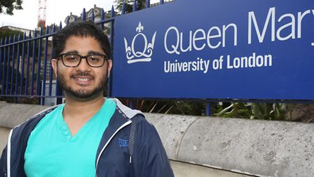 Student Sohail Ahmed, who is a former Islamic radical, outside Queen Mary University of London