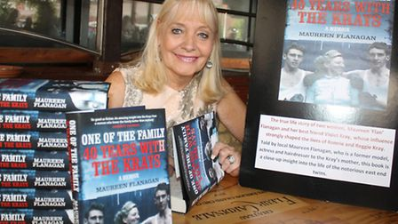 Still a Page 3 pin-up after 40 years... ex-model Maureen Flanagan at launch of her first-book 40 Yea