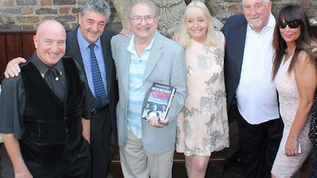Maureen Flanagan (near centre) with line-up of ex-gangland figures Dave Courtney (far left), Jimmy L