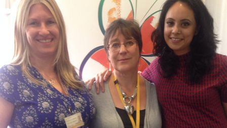 Running the clinic.. consultant psychologist Amanda O'Donovan (left) with Dr Jill Zelin and sexual