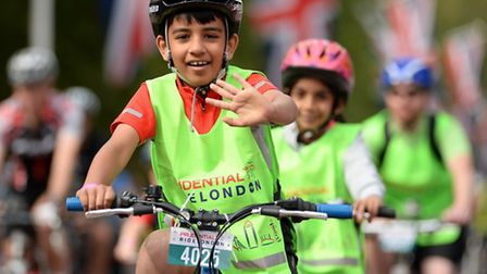 Youngsters arriving for the world's greates festival of cycling involving 95,000 riders from Olympic