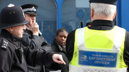 Support officers on walkabout with police in Bow