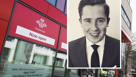 Tomas Dirse [inset] and Prince's Trust's new Poplar centre at St Paul's Way, Bow Common