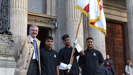Pupils from George Green's Secondary join MP Jim Fitzpatrick at St Paul's Seafarers' Mass