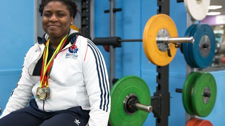 UEL's Mercy Brown won gold at the European junior weightlifting championships (pic: Ewan Laycock/UEL