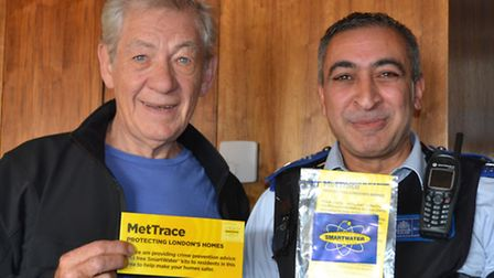 Tower Hamlets' resident Sir Ian McKellen has signed up to the Met's 'Met Trace' programme to tackle