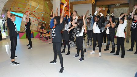 Dancing at the patient party for teenagers