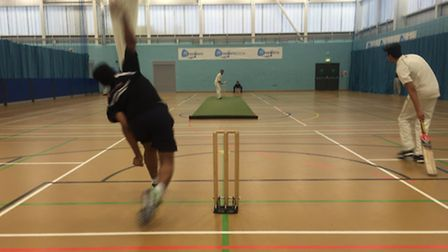 Action from the first week of the UEL Essex CCCB Chance to Shine indoor league