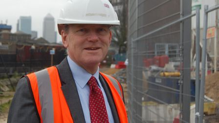Even before becoming mayor... John Biggs visits Bow School construction site