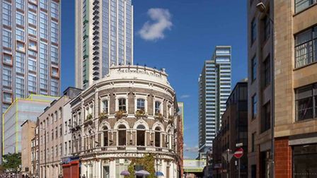 View from Commercial Street of how Bishopsgate goodsyard development will look