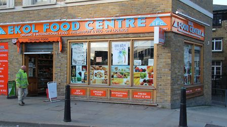 Late-night off-license in Bethnal Green Road where Joel Adesina sought refuge... then collapsed