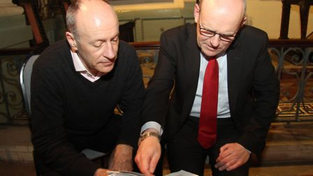 Hackney's Mayor Jules Pipe launches joint battle plan with Tower Hamlets mayor John Biggs at Monday'