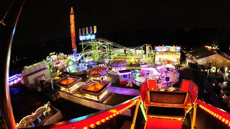 View from the Ferris wheel at last year's Winterville