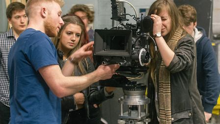 Young hopeful movie makers join BFI Film Academy Craft Skills course