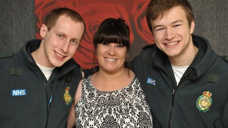 A happy reunon for Hayley with the two east London paramedics who saved her life in the ambulance