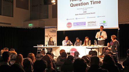 Young People's Question Time at Poplar's Spotlight youth centre