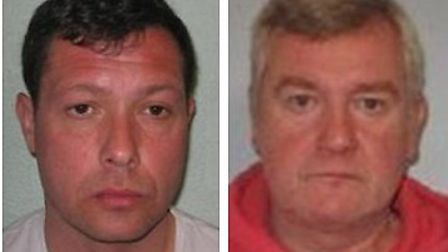 Jailed for window-cleaner burglaries... Tony Dudley (left) and Robert Smythe