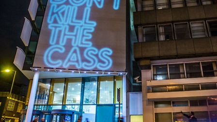 """Message """"loud and clear"""" on London Met Uni's main campus [photos: Marcus Tylor]"""