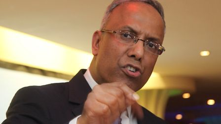 Lutfur Rahman at rally in Stepney Green after his 2015 downfall
