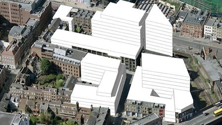 Where high-rise office blocks are planned at Norton Folgate