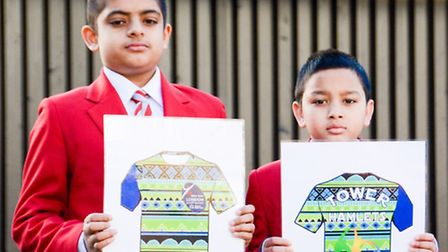 Niyaz Uddin and Rumel Mohammed with their designs