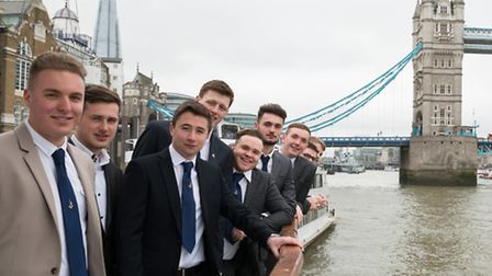 Ready for a life on the Thames... apprentices get their two-year diplomas [photos: Todd White]