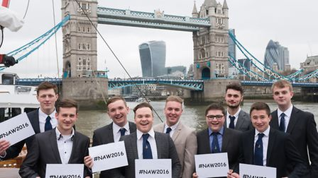 Some of the Thames trainees at the end of Apprentices Week when they got their 'half way' tickets to