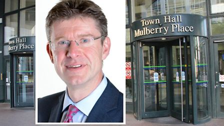 Tower Hamlets council... another year under control of Communities Secretary Greg Clark (inset)