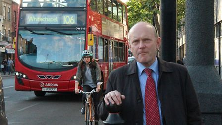 Mayor John Biggs out and about in Bethnal Green