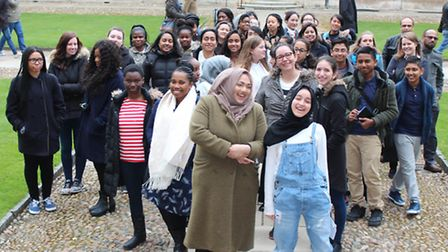 Pupils from Bishop Challoner and St Paul's Way on fact-finding weekend at Clare College, Cambridge