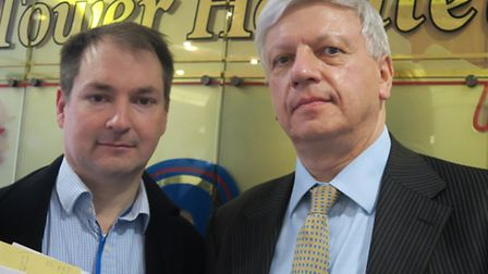 Isle of Dogs Forum secretary Cllr Andrew Wood (left) and chairman Richard Horwood