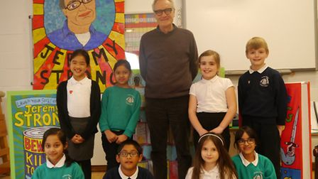 Youngsters meet author Jeremy Strong at Arnham Wharf School