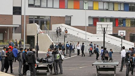 Pupils at Bow Secondary