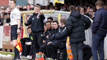 Leyton Orient caretaker Andy Hessenthaler shows his frustration on the touchline (pic: Simon O'Conno
