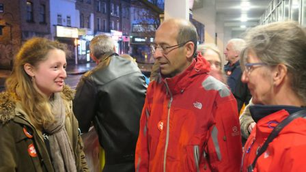 Royal London BMA rep Dr Emily Mills (left) supported by East End GPs Dr Cambis Boomla from Poplar's