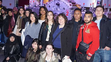 A-Level science pupils from Tower Hamlets College visit Hadron particle collider in Geneva