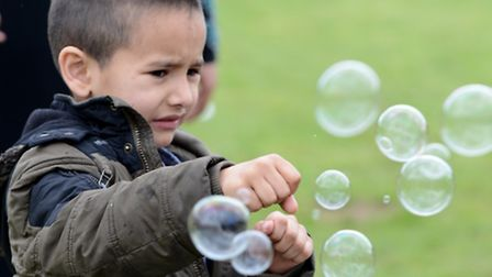 Knowledge bubbling up for children at Queen Mary's science festival at Stepney Green Park