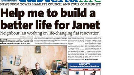 Ian Devlin... on front page of council's newspaper