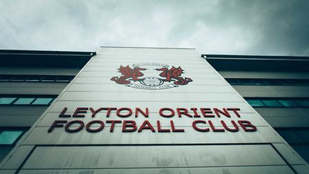 Leyton Orient's badge outside Brisbane Road (pic: Play With A Legend).