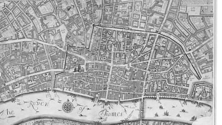 London 10 years after Great Fire... map shows rebuilt city