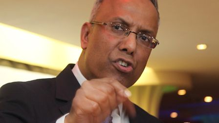 Lutfur Rahman at 2015 rally in Mile End after his ban