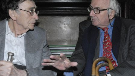 2006: ProfBill Fishman meets Mosley's son Nicholas Mosely at commemoration at Whitechapel's Toynbee