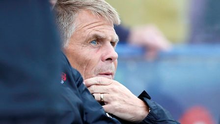 Leyton Orient boss Andy Hessenthaler looks on (pic: Simon O'Connor)