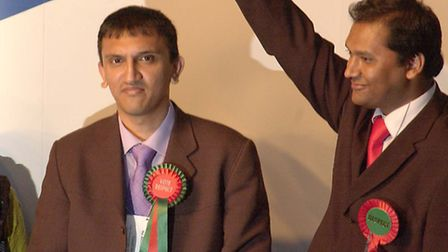Shahed Ali (left) first elected to the council in 2006 for Whitechapel for George Galloway's Respect