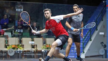 Essex's Daryl Selby in action (pic Steve Line/squashpics.com)